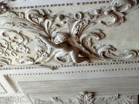 Stuckdecke im Eleonorenzimmer, Detail