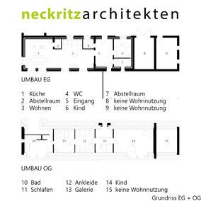 Grundriss EG und Grundriss OG, Buschmannshof in Neukirchen - Vluyn