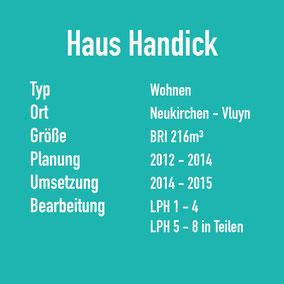 Daten Fakten Haus Handick in Neukirchen-Vluyn