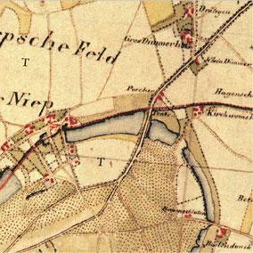 Auschnitt von Tranchot Moers Blatt 29 1801-1828