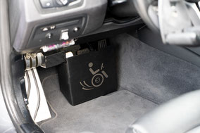BMW M3 Selbstfahrerumbau, Space Drive, Dreizack, Transferhilfe, Pedalsperre Sodermanns