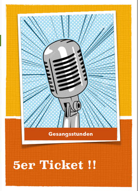 Geschenkidee Gesangsunterricht Gutschein