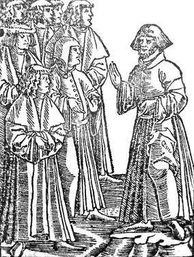 Petr Chelčický (1380-1460) a rédigé plusieurs ouvrages « Sur la lutte spirituelle», et le «Filet de la vraie foi » dans lesquels il condamne la seigneurie et le servage au nom de l'égalité et de la justice sociale.