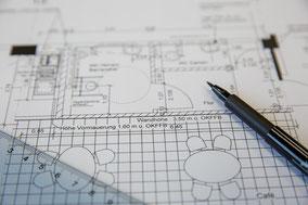 Architektur Bauplan