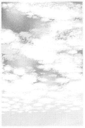 マンガスクール・はまのマンガ倶楽部/トーン削りによる雲01