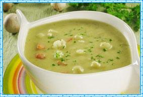 Зелёный суп-пюре
