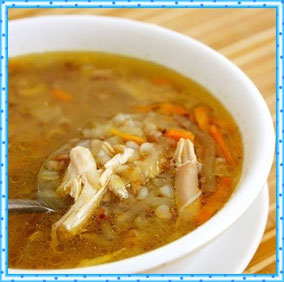 Суп гречневый на курином бульоне