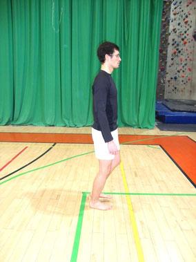 Rehabilitacja kolana: wahadło - pozycja początkowa