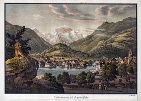 Nr. 3366 Unterseen et Aarmühle (Interlaken)