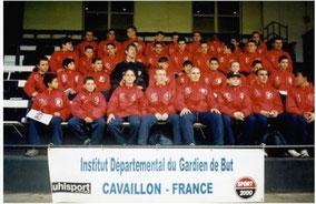Edwin Van der Sar et nos stagiaires ( 2001)