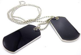 chaine militaire homme noire cadeau pour le 14 février