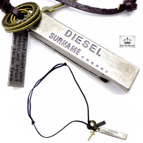 collier fashion diesel homme