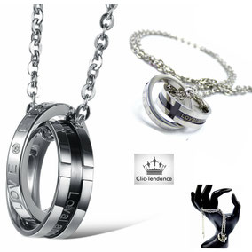 anneau homme amour sur chaine