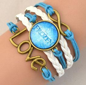bracelet fille tissus princesse frozen