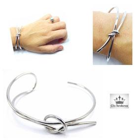 bracelet or blanc pour elle