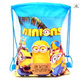 Sac enfant  les minions jaune et bleu