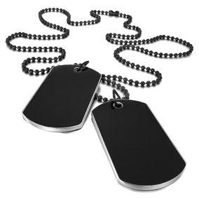 plaque militaire noire pour homme accessoires de mode style us army