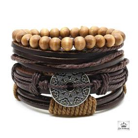 bracelet diesel cuir clic tendance
