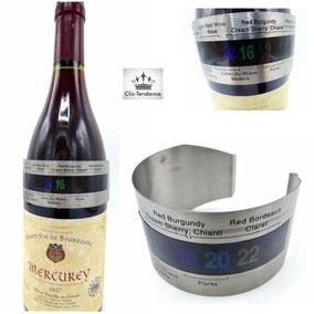 Thermométre à vin LCD Inox
