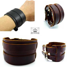 bracelet de force cuir homme