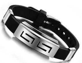 bracelet fashion inox et silicone