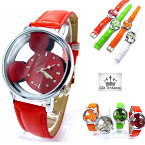 montre enfant rouge mickey mouse