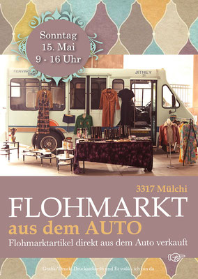 Dorfleist Mülchi - Flyer Flohmarkt aus dem Auto