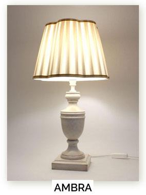 Lampada di legno da comodino Ambra