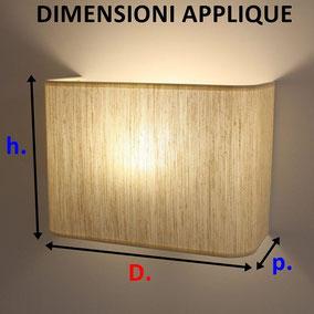 Dimensioni dell'applique in tessuto rettangolo.