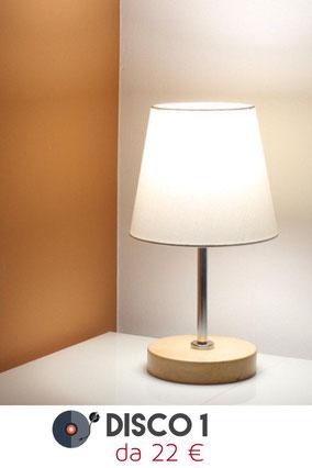 Lampada da comodino moderna, serie Disco 1