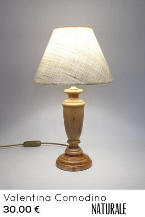 lampada da comodino stile rustico di montagna