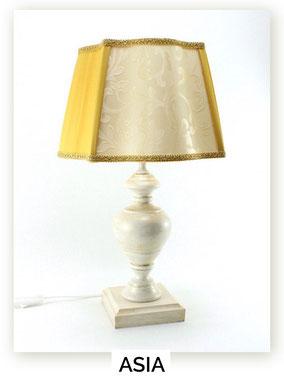 Lampada da comodino in legno Asia