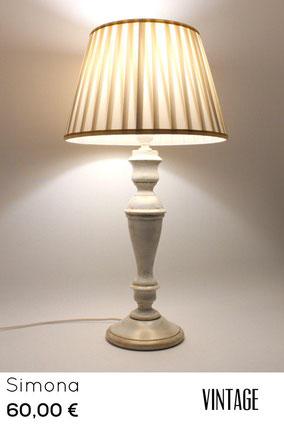 lampada in legno da tavolo shabby chic