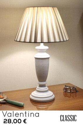 lampada da comodino shabby classica