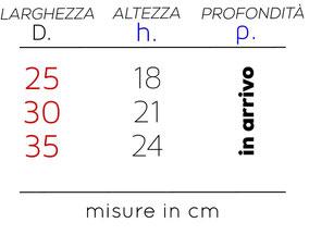 Misure in dettaglio applique tessuto Milano