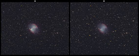 M27 Dumbbell-Nebula/Hantelnebel-Crossview 3D