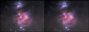 M 42 Orionnebula - Cross view 3 D