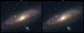M 31 Andromeda Galaxy - Crossview 3 D