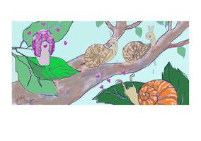 Quatre escargots