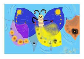 La lessive du papillon