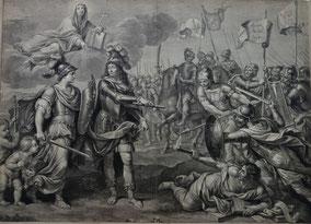 François de Poilly d'après Pierre Mignard. Thèse de Camille Le Tellier, 1692. Musée Boucher-de-Perthes / Photo Sylvie Gilliard