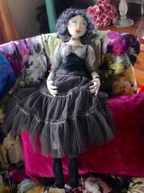 Hand made textile art doll