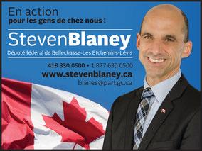 Nous remercions chaleureusement M. Blaney pour sa contribution au développement du Patro de Lévis