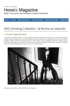 No Smoking Collection sur Hoosta Magazine Style