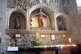 Bild: in der Kirche von Pérouget