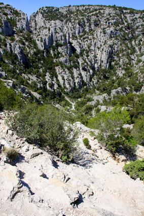 Bild: Der Abstieg zu Calanque d´En Vau