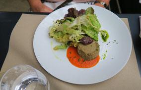 Bild: Papelon d´aubergines, coulis de tomates, Chez Serge, Carpentras