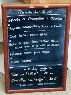 Bild: Menükarte Chez Serge, Carpentras