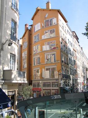 Bild: bemaltes Haus in Lyon
