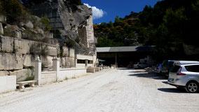 Bild: im Steinbruch von Oppéde, Luberon